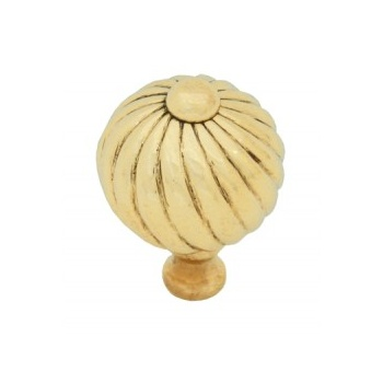 From the Anvil Small Spiral Cabinet Knob - Polished Brass