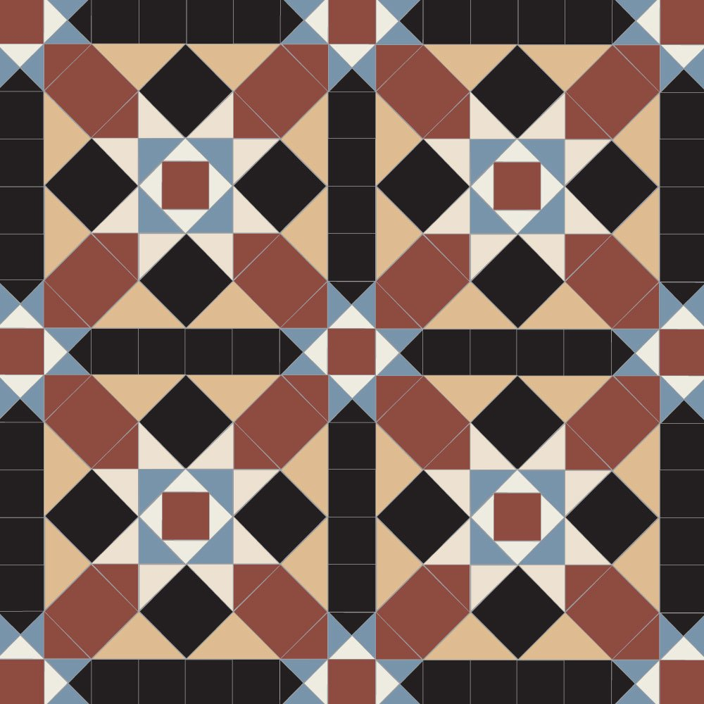 Grasmere geometric floor tiles for Old english floor