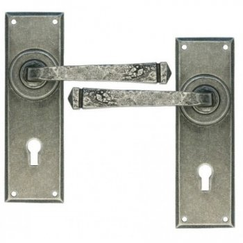 From the Anvil Handmade Avon Lock, Lever and Bathroom Handle sets - Pewter Patina