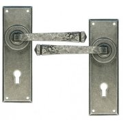 Handmade Avon Lock, Lever and Bathroom Handle sets - Pewter Patina