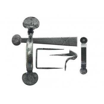 From the Anvil Handmade Bean Thumblatch - Pewter