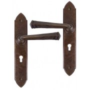 Handmade Gothic Sprung Lever Lock and Latch Sets - Bronze