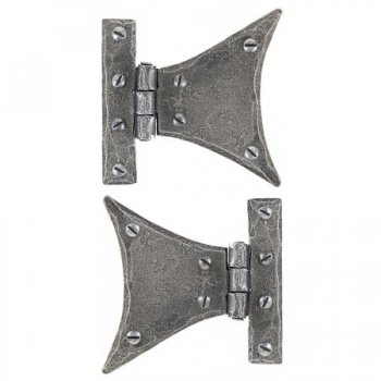 From the Anvil Handmade Half Butterfly Hinge (pair) - Pewter Patina