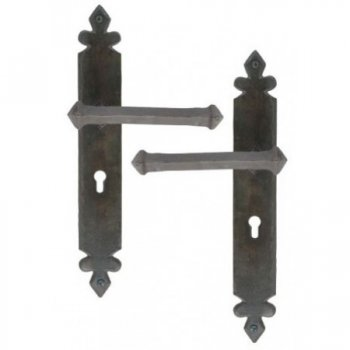 Handmade Tudor Unsprung Lever Lock, Latch & Espag. Handle Sets - Beeswax
