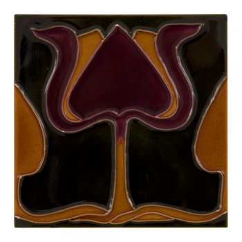 Carron Handpainted Tube Lined Fireplace Tile Set (10) - LGC003