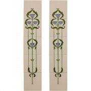 Handpainted Tube Lined Fireplace Tile Set (10) - LGC011