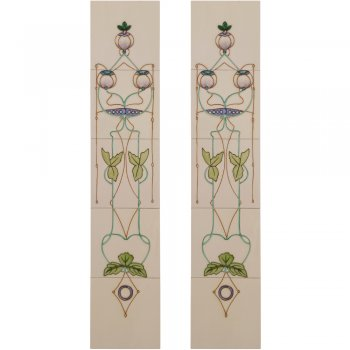 Carron Handpainted Tube Lined Fireplace Tile Set (10) - LGC015