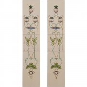 Handpainted Tube Lined Fireplace Tile Set (10) - LGC015