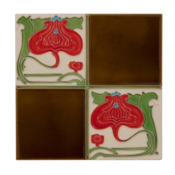 Carron Handpainted Tube Lined Fireplace Tile Set (10) - LGC029