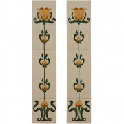 Handpainted Tube Lined Fireplace Tile Set (10) - LGC083