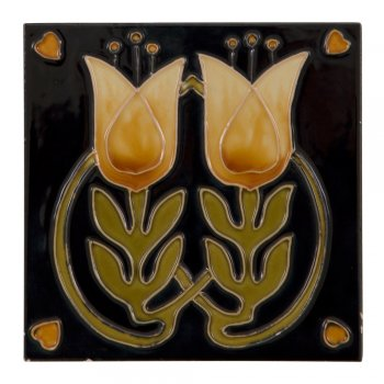 Carron Handpainted Tube Lined Fireplace Tile Set (10) - LGC092