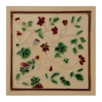 Carron Handpainted Tube Lined Fireplace Tile Set (10) - LGC094
