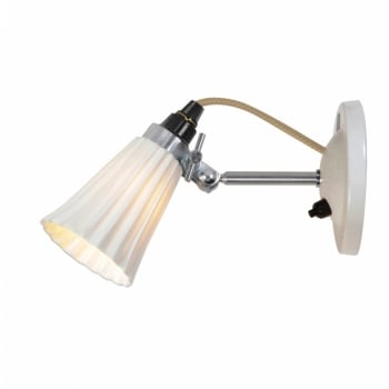 Original BTC Hector Small Pleat Switched Wall Light - Natural
