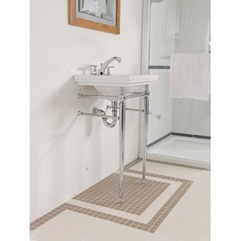 Imperial Astoria Deco Cloak Basin Stand with Towel Rail