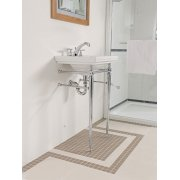 Astoria Deco Cloak Basin Stand with Towel Rail