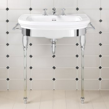 Imperial Carlyon Basin Stand With Glass Legs