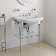 Carlyon Large Basin Stand With Glass Shelf