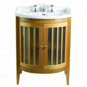 Linea Oxford Vanity Unit 2 Wood/Frosted Glass Doors