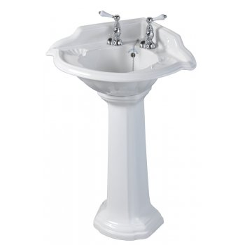 Imperial Oxford Decorated Corner Basin-615mm
