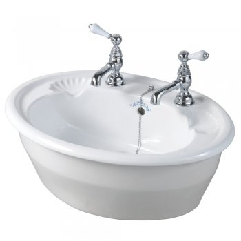 Imperial Oxford Decorated Inset Basin - 545mm