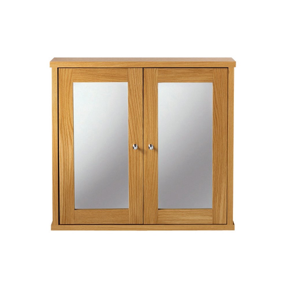 Oxford Linea Wall Cabinet With 2 Woodmirror Glass Doors