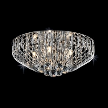 Impex Lighting Carlo Crystal Flush Light in Chrome