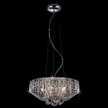 Impex Lighting Carlo Crystal Pendant Light in Chrome