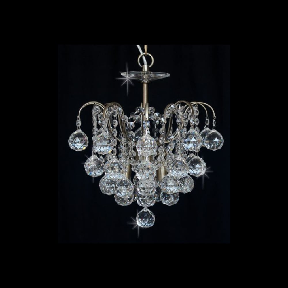 Impex Lighting Emmie Crystal Pendant Light