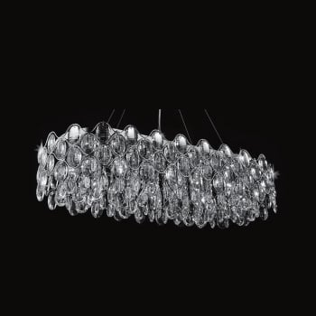 Impex Lighting Raina 10LT 40W Crystal Oblong Light in Chrome