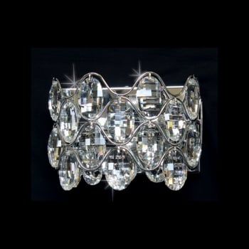 Impex Lighting Raina 2LT 40W Crystal Wall Light in Chrome