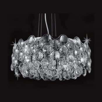 Impex Lighting Raina Crystal and Chrome Pendant Light