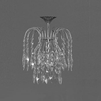 Impex Lighting Shower Strass Crystal Pendant Light