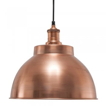 Industville Brooklyn Vintage Metal Dome Pendant Light - Copper - 13 inch