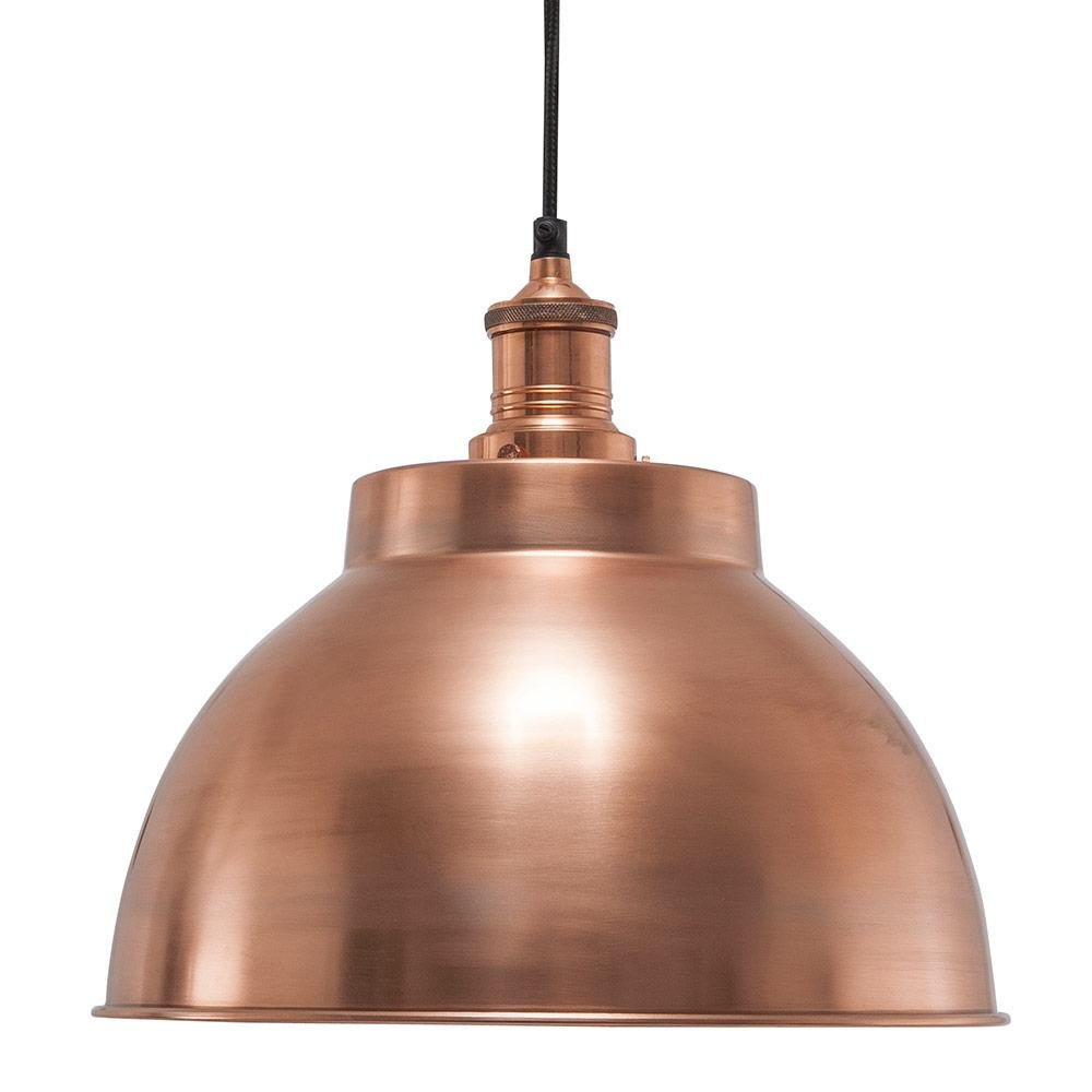 vintage industrial style metal dome lamp shade copper 13 inch. Black Bedroom Furniture Sets. Home Design Ideas
