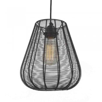 Industville Handcrafted Unique Vintage Cage Wire Metal Pendant Light - Drop