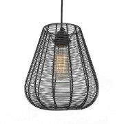 Industrial Style Cage Wire Metal Pendant Light - Drop