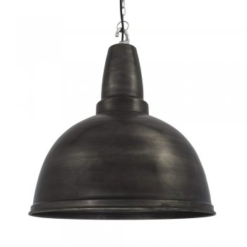 Industville Large Retro Industrial Metal Pendant Bar Lighting - Pewter - 17inch or 13inch
