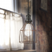 Industville Simple Vintage Rusty Cage Wire Pendant Light - Cone