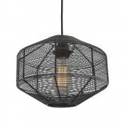 Vintage Industrial Style Cage Wire Metal Pendant Light - Round