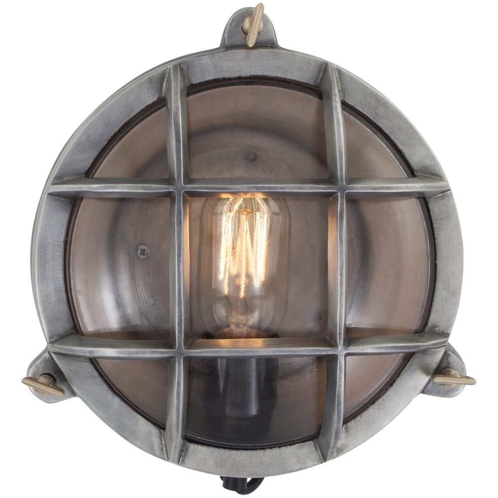 vintage industrial style round retro bulkhead wall light flush mount. Black Bedroom Furniture Sets. Home Design Ideas