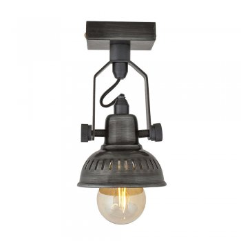 Industville Vintage Style Adjustable Swivel Spotlight Flush Mount - Single