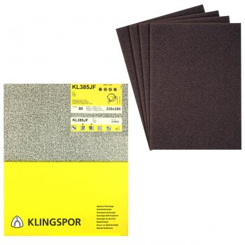 Klingspor 230mm x 280mm Cloth Back Metal/Wood Sanding Sheets - KL 385 JF