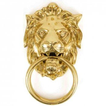 From the Anvil Lion's Head Door Knocker - Polished Brass