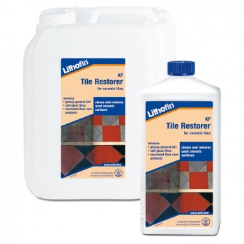 Lithofin KF Tile Restorer Victorian Quarry & Geometric Floor Tile Intensive Cleaner