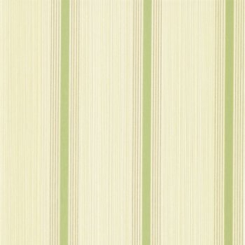 Little Greene Cavendish Stripe - Brush Green Wallpaper