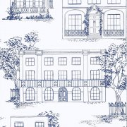 Hampstead - Mid Blue Wallpaper