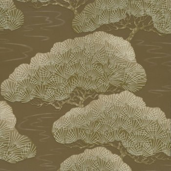 Little Greene Pines - Golden Pine Wallpaper