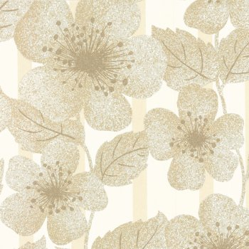 Little Greene Poppy Flower Cove Wallpaper