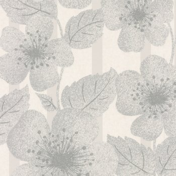 Little Greene Poppy Flower Glacier Wallpaper