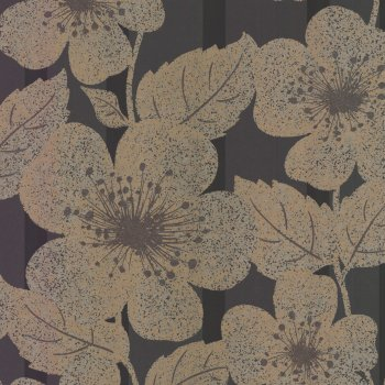 Little Greene Poppy Flower Penny Wallpaper